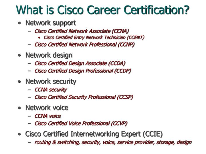 What is Cisco Career Certification?