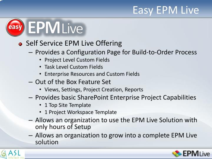 Easy EPM Live