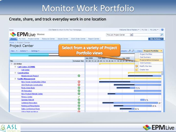 Monitor Work Portfolio
