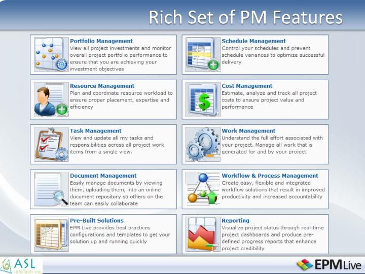 Rich Set of PM Features