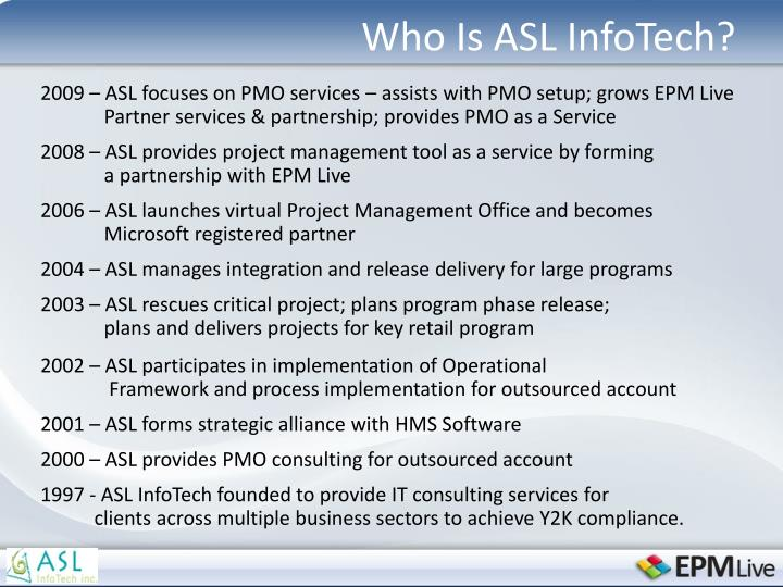 Who is asl infotech