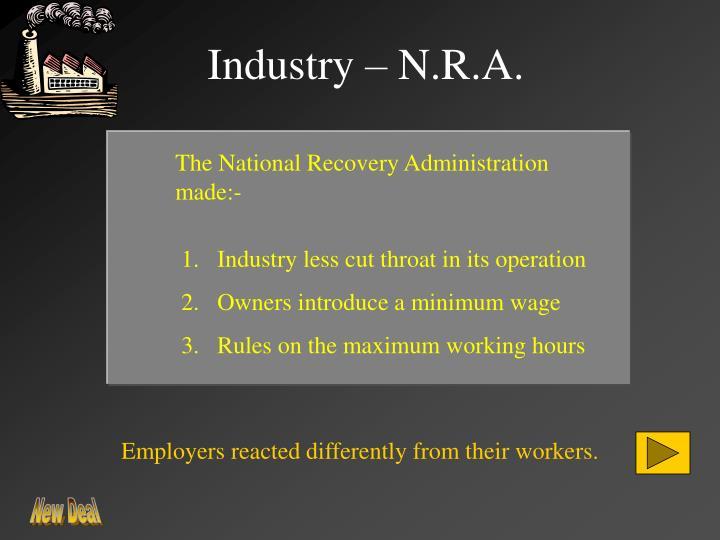 Industry – N.R.A.