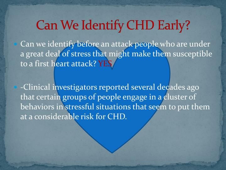 Can We Identify CHD Early?