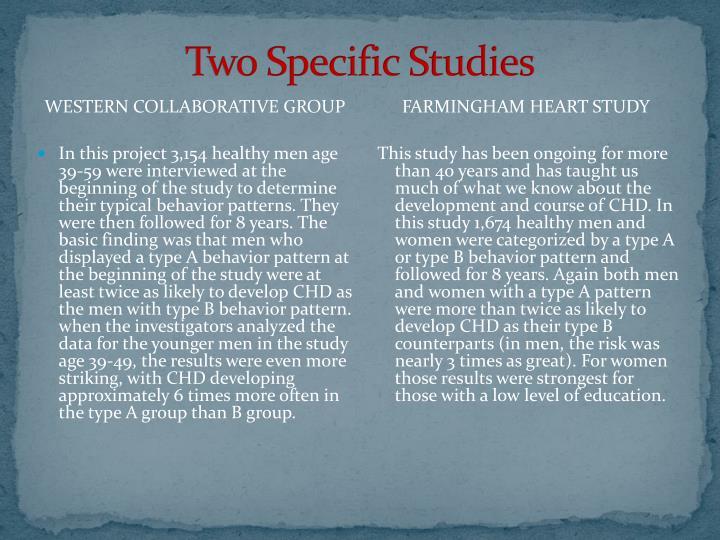 Two Specific Studies