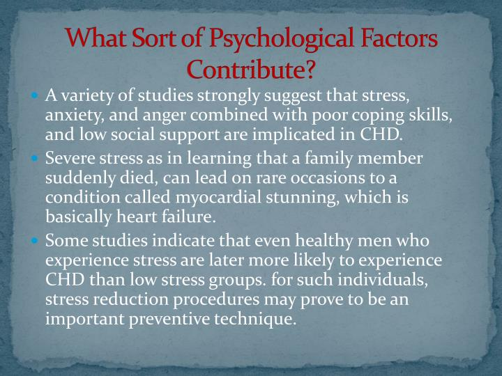 What Sort of Psychological Factors Contribute?