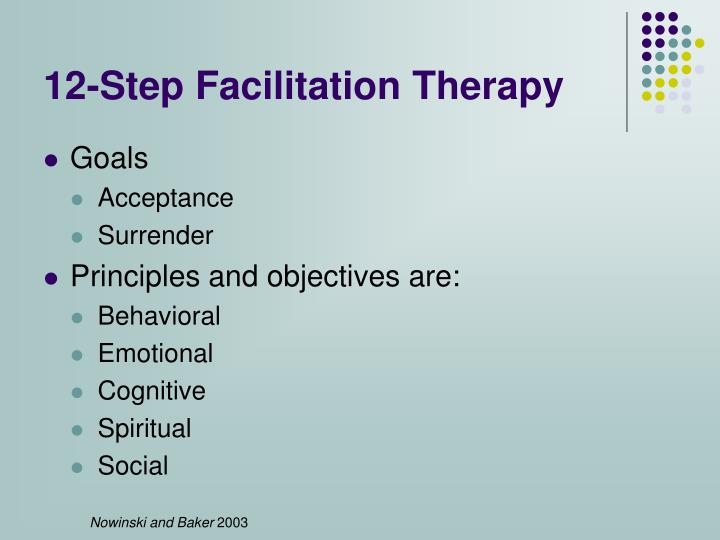 12-Step Facilitation Therapy
