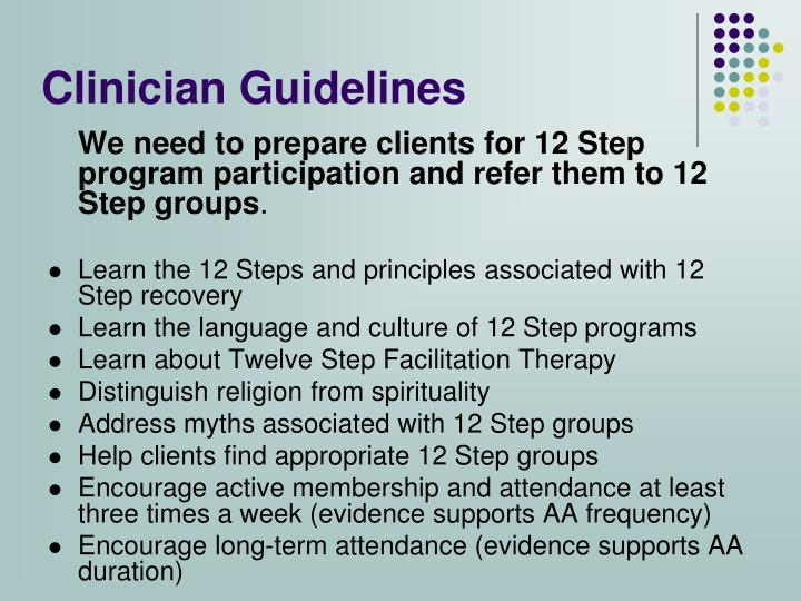 Clinician Guidelines