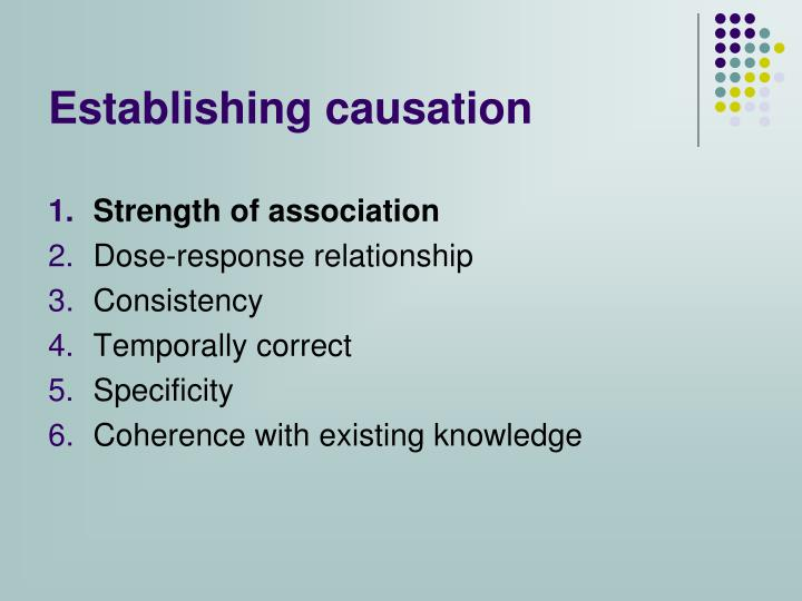 Establishing causation