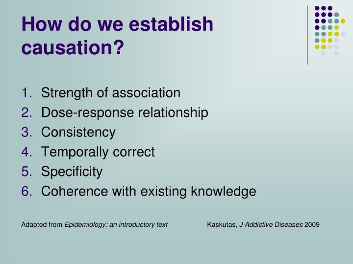 How do we establish causation?