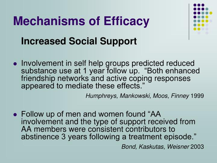 Mechanisms of Efficacy