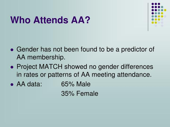 Who Attends AA?