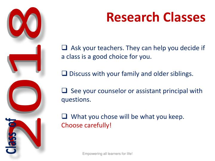 Research Classes