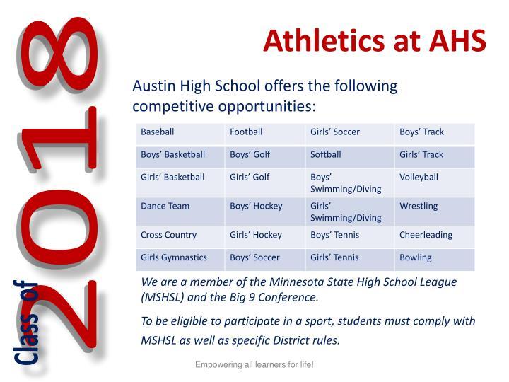 Athletics at AHS