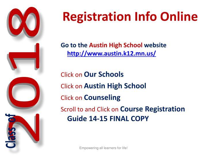 Registration Info Online