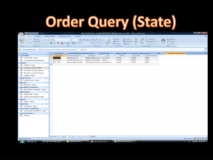 Order Query (State)