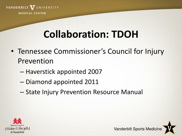 Collaboration: TDOH
