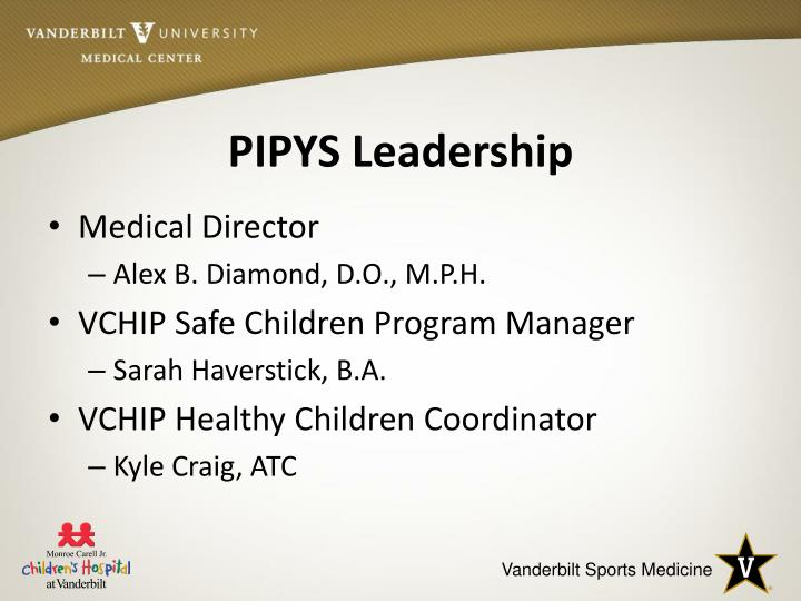 PIPYS Leadership