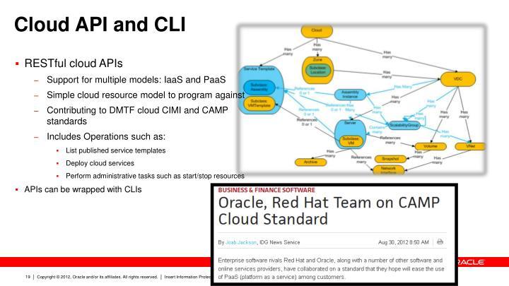 Cloud API and CLI