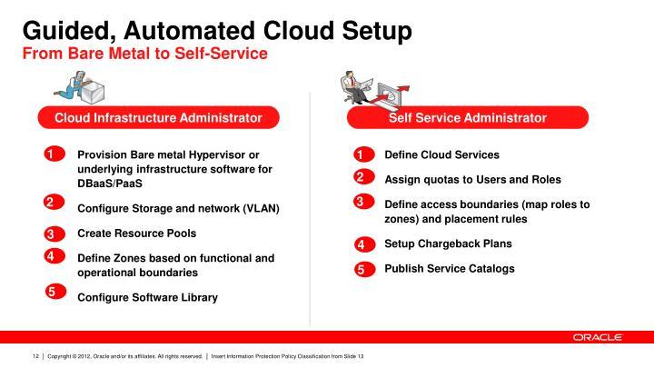 Guided, Automated Cloud Setup