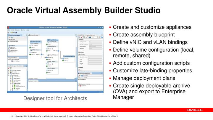 Oracle Virtual Assembly Builder Studio