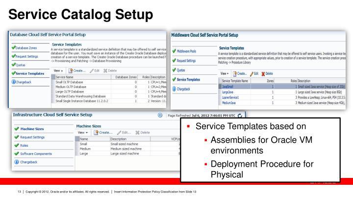 Service Catalog Setup