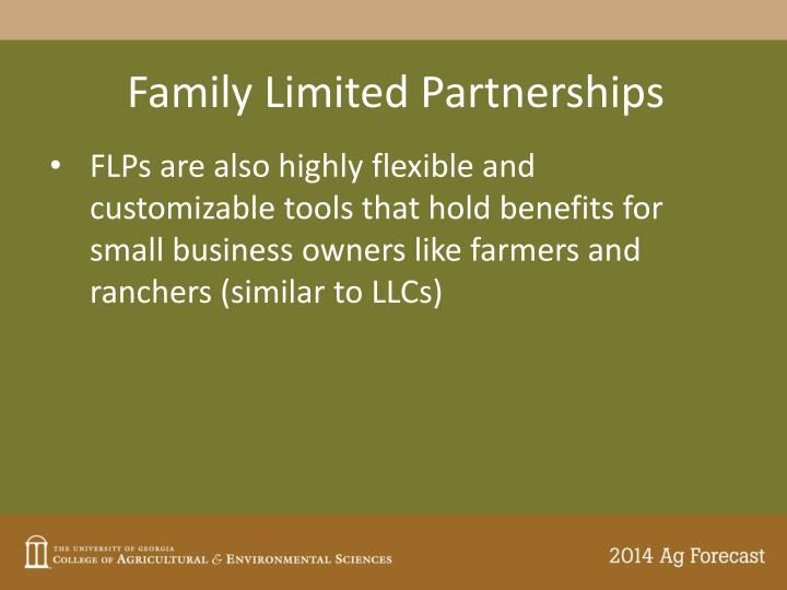 Family Limited Partnerships