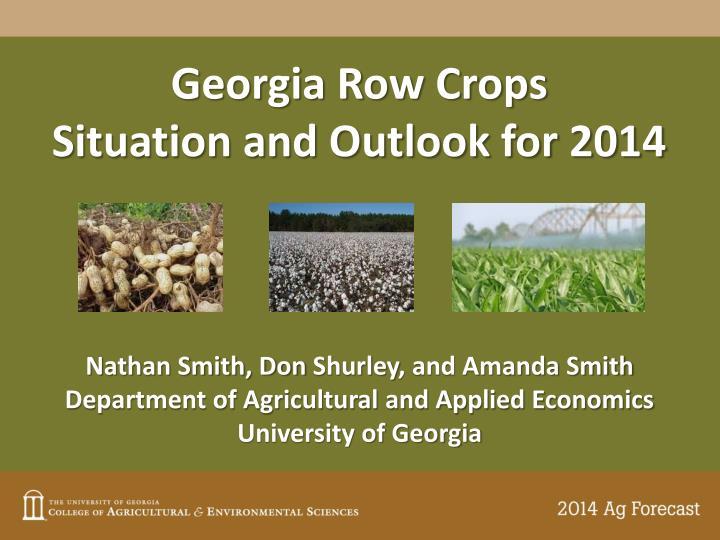 Georgia Row Crops