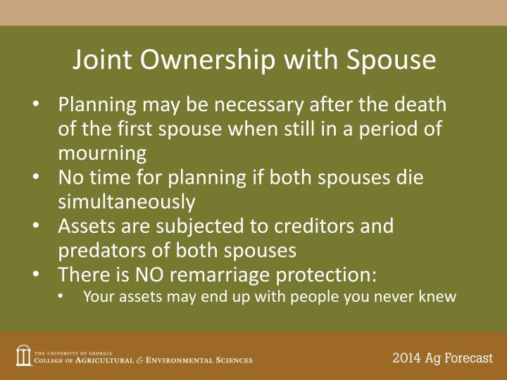 Joint Ownership with Spouse