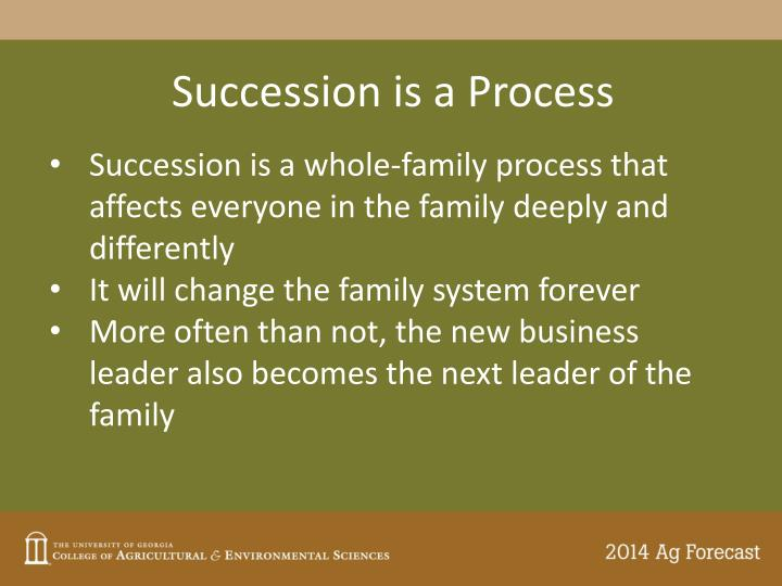Succession is a Process