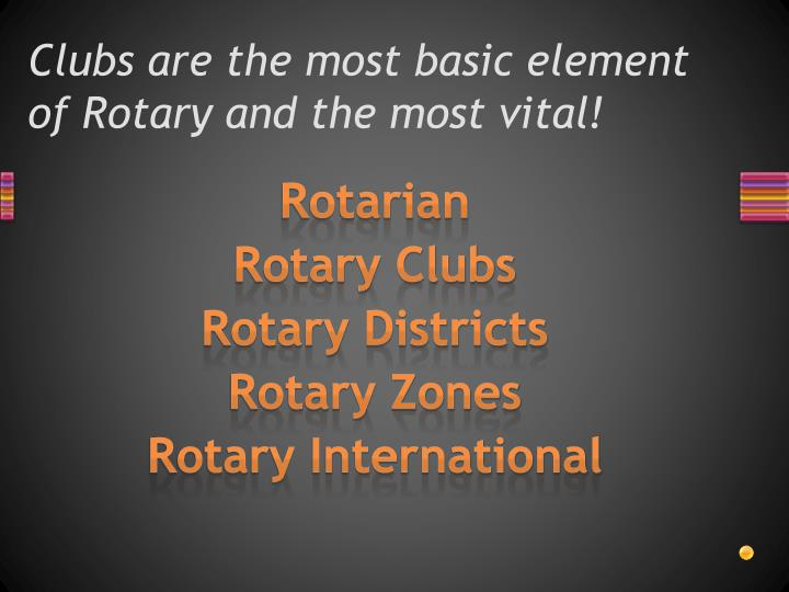 Clubs are the most basic element of Rotary