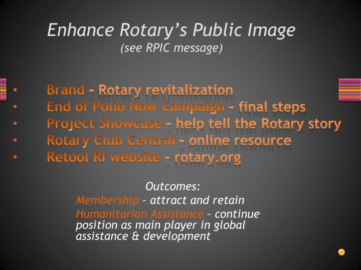 Enhance Rotary's Public Image