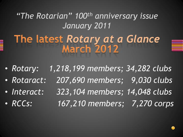 """The Rotarian"" 100"