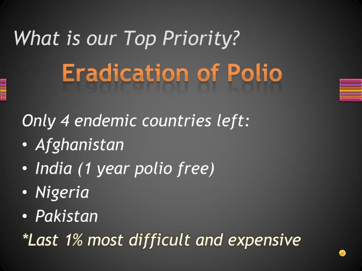 What is our Top Priority?