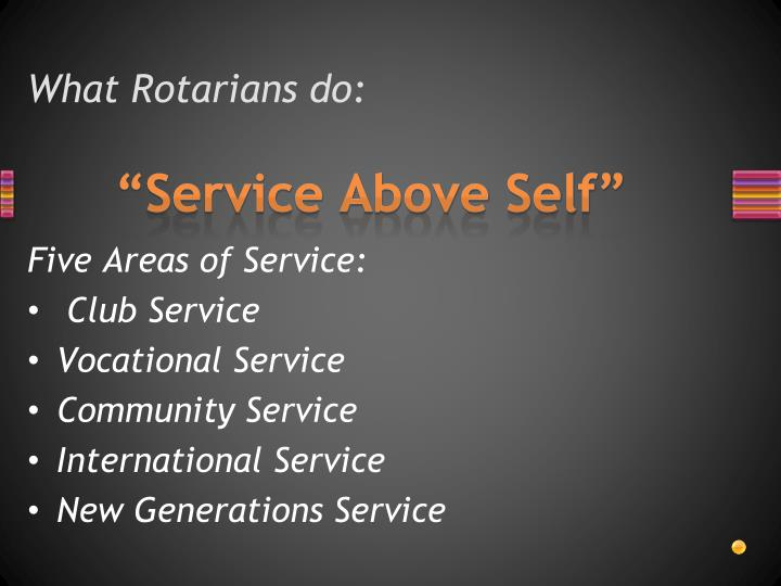 What Rotarians do: