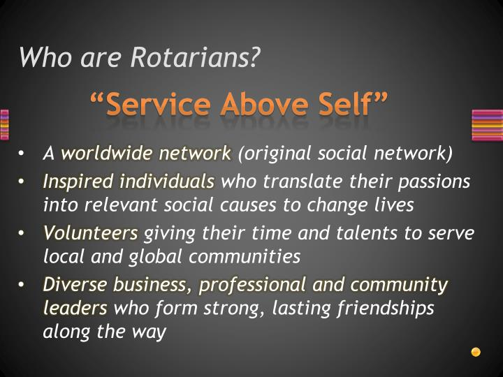 Who are Rotarians?