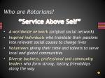 who are rotarians