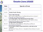 tentative course schedule1