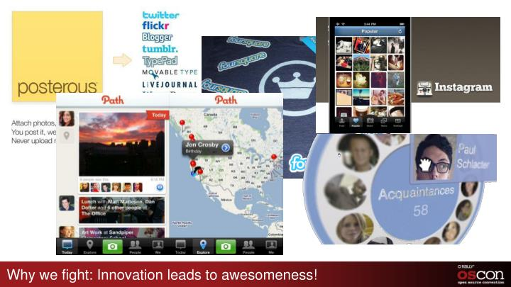 Why we fight: Innovation leads to awesomeness!