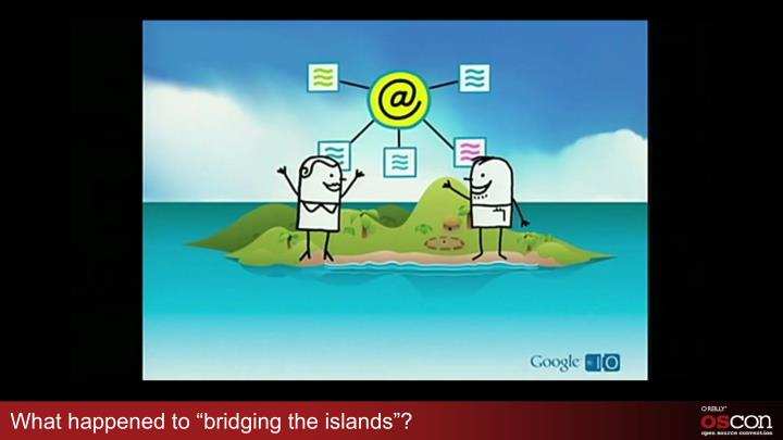 "What happened to ""bridging the islands""?"