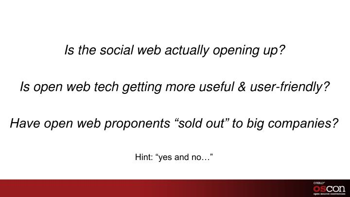 Is the social web actually opening up?