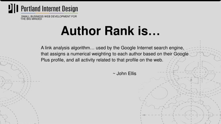 Author Rank is