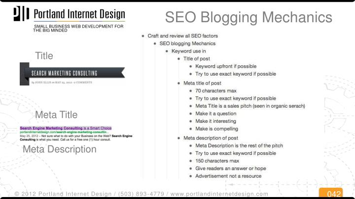 SEO Blogging Mechanics