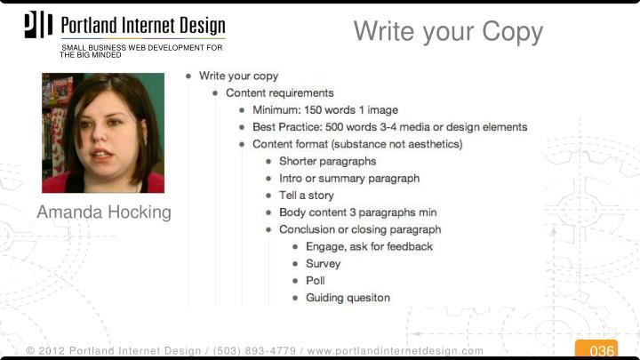 Write your Copy