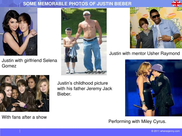 SOME MEMORABLE PHOTOS OF JUSTIN BIEBER