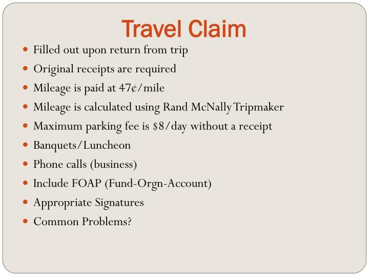 Travel Claim