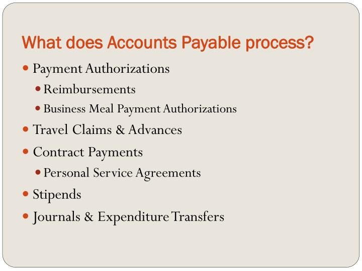 What does accounts payable process