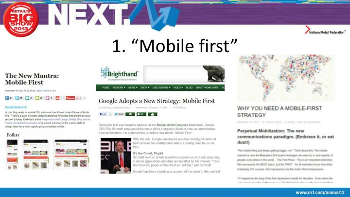 "1. ""Mobile first"""
