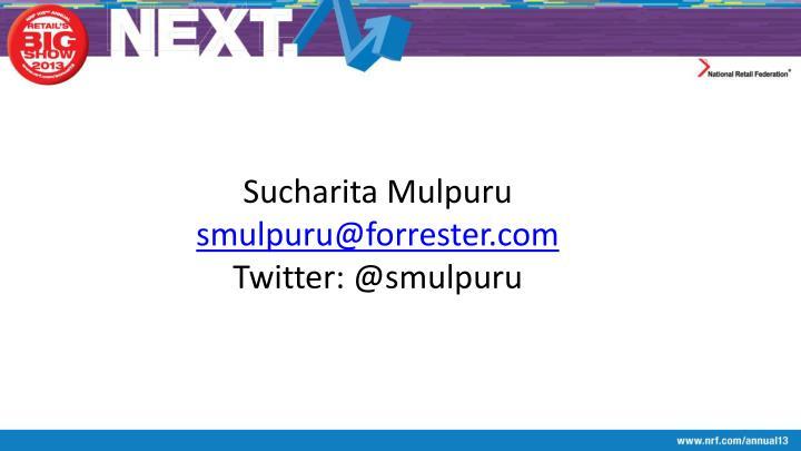Sucharita Mulpuru