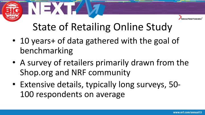 State of Retailing Online Study