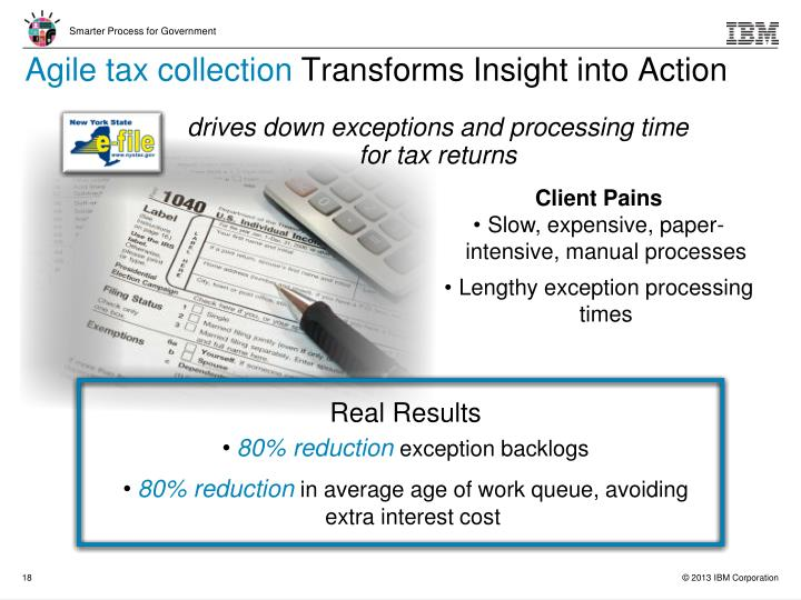 Agile tax collection